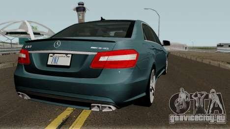 Mercedes-Benz W212 E63 AMG для GTA San Andreas вид справа