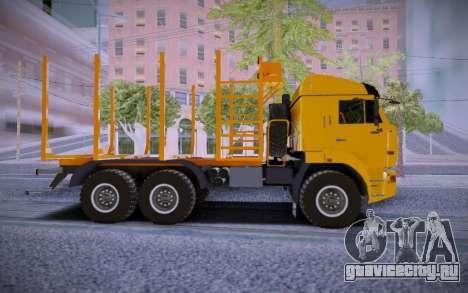КАМАЗ 6460 Лесовоз для GTA San Andreas вид слева