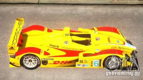 Porsche RS Spyder PJ2 для GTA 4 вид сзади