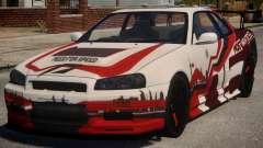 Nissan Skyline GT-R R34 PJ3 для GTA 4