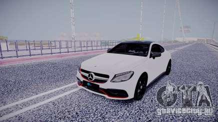 Mercedes-Benz C63 White для GTA San Andreas