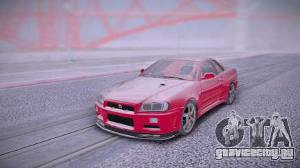 Nissan Skyline Red для GTA San Andreas