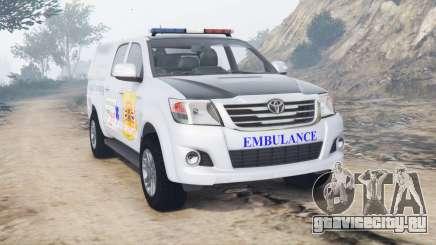 Toyota Hilux Double Cab 2012 Thai Ambulance для GTA 5