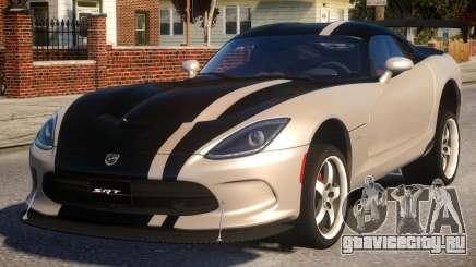 Dodge Viper 2013 PJ4 для GTA 4