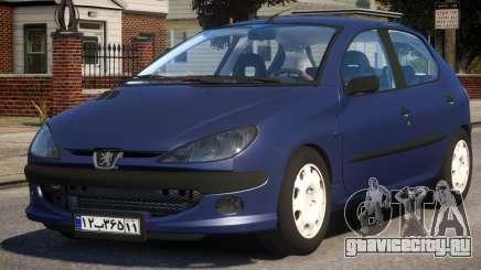 Peugeot 206 V1 для GTA 4