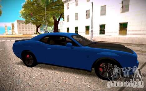 2018 Dodge Challenger для GTA San Andreas вид слева