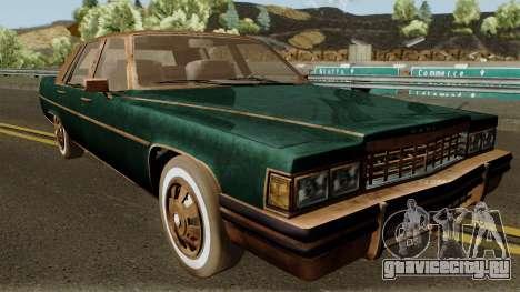 Cadillac Fleetwood Beaten 1985 v1 для GTA San Andreas вид изнутри