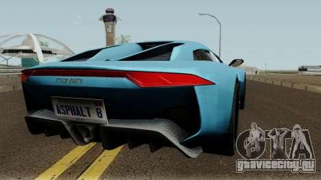 Rezvani Beast Alpha для GTA San Andreas вид справа