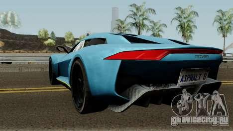 Rezvani Beast Alpha для GTA San Andreas вид сзади слева