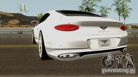 Bentley Continental GT First Edition 2018 для GTA San Andreas вид сзади слева