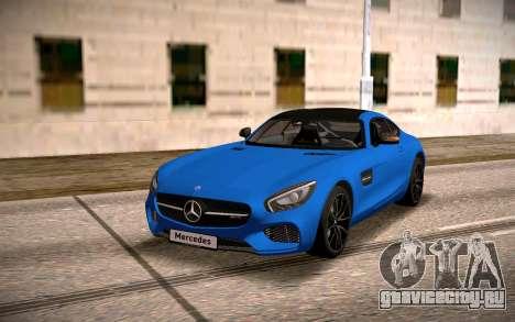 Mercedes-Benz GTS для GTA San Andreas вид сзади