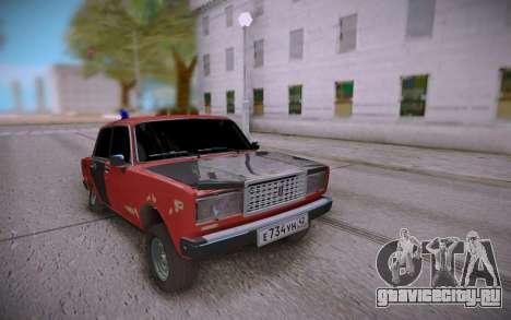 ВАЗ 2107 Битый и заниженный для GTA San Andreas