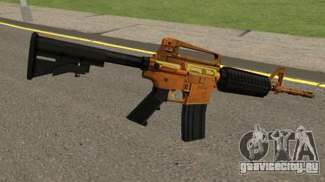 Golden M4A1 для GTA San Andreas