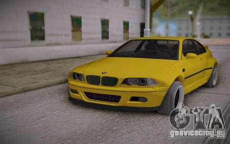 BMW E46 Yellow для GTA San Andreas