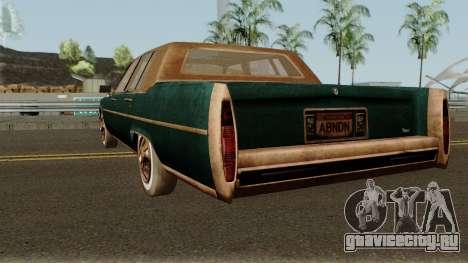 Cadillac Fleetwood Beaten 1985 v1 для GTA San Andreas вид сзади слева