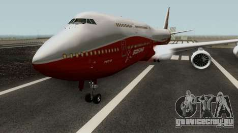 Boeing 747-8 Intercontinental для GTA San Andreas