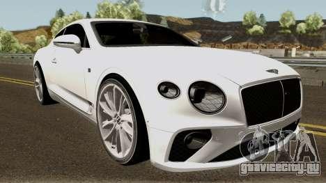 Bentley Continental GT First Edition 2018 для GTA San Andreas вид изнутри