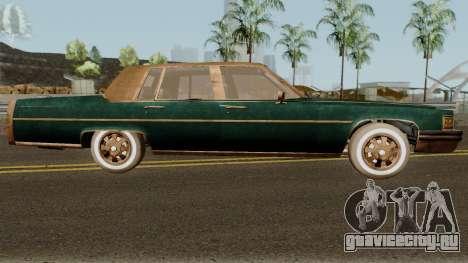 Cadillac Fleetwood Beaten 1985 v1 для GTA San Andreas вид сзади
