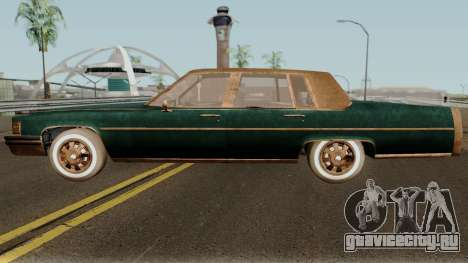 Cadillac Fleetwood Beaten 1985 v1 для GTA San Andreas вид слева
