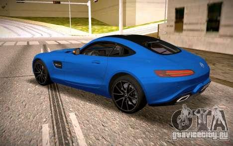 Mercedes-Benz GTS для GTA San Andreas вид сзади слева