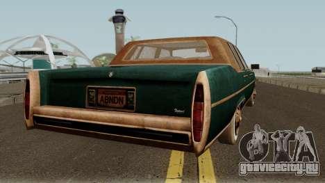 Cadillac Fleetwood Beaten 1985 v1 для GTA San Andreas вид справа