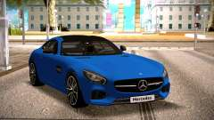Mercedes-Benz GTS Blue для GTA San Andreas