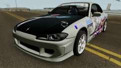 Nissan Silvia S15 Itasha Sayo and Lisa 2000 для GTA San Andreas