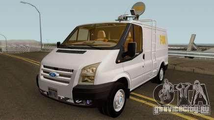 Ford Transit News Car (FOX TV) для GTA San Andreas