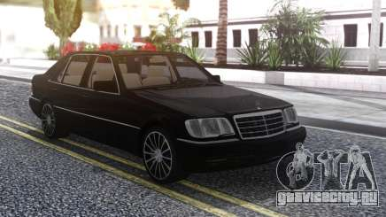 Mercedes-Benz W140 Black для GTA San Andreas