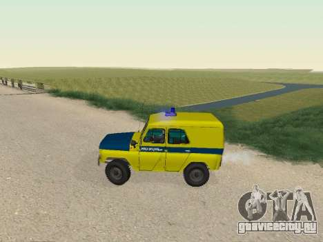 УАЗ 469 Милиция для GTA San Andreas вид слева