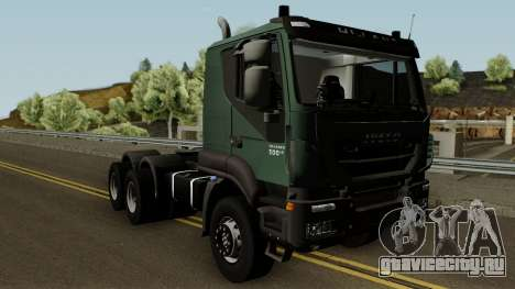 Iveco Trakker Cab Low 6x4 для GTA San Andreas вид изнутри