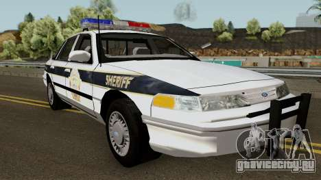 Ford Sheriff Arklay Country Mountains для GTA San Andreas вид изнутри