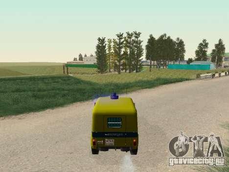 УАЗ 469 Милиция для GTA San Andreas вид изнутри