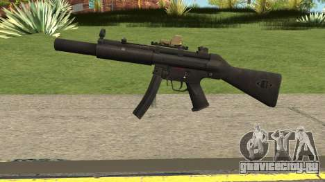 Silenced MP5 with Eotech для GTA San Andreas