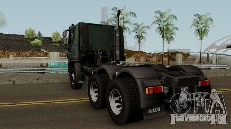 Iveco Trakker Cab Low 6x4 для GTA San Andreas вид сзади слева