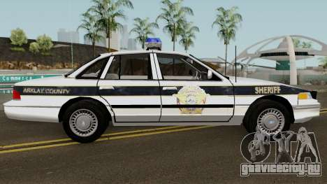 Ford Sheriff Arklay Country Mountains для GTA San Andreas вид сзади