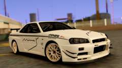 Nissan Skyline R34 Leks для GTA San Andreas