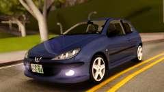 Peugeot 206 RC Blue Color для GTA San Andreas