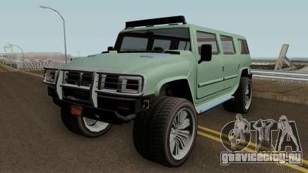 Mammoth Patriot Custom v2 GTA V IVF для GTA San Andreas