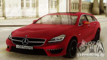 Mercedes-Benz CLS63 AMG Red для GTA San Andreas