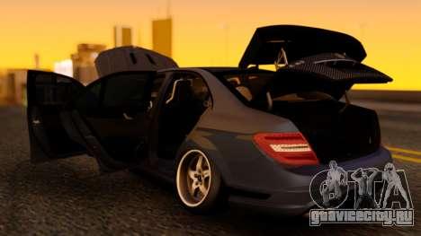 Mercedes-Benz C63 для GTA San Andreas вид сзади