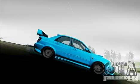 Subaru Impreza WRX STI 2003 LPcars для GTA San Andreas вид сбоку