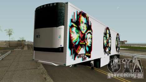 Remolque Green Day V.1 для GTA San Andreas