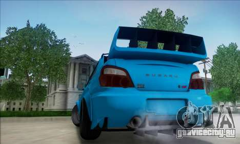 Subaru Impreza WRX STI 2003 LPcars для GTA San Andreas вид сзади