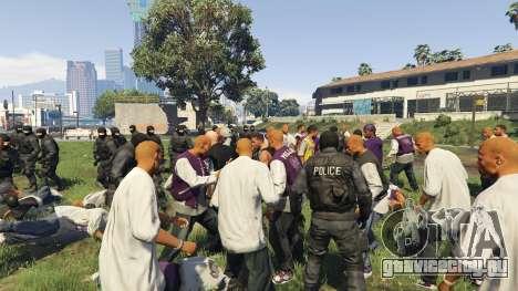 30 SWAT VS 60 Gangsters 1.0 для GTA 5 третий скриншот