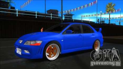 Mitsubishi Lancer Evolution VII Blue для GTA San Andreas