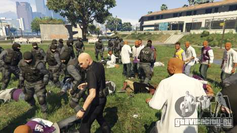 30 SWAT VS 60 Gangsters 1.0 для GTA 5