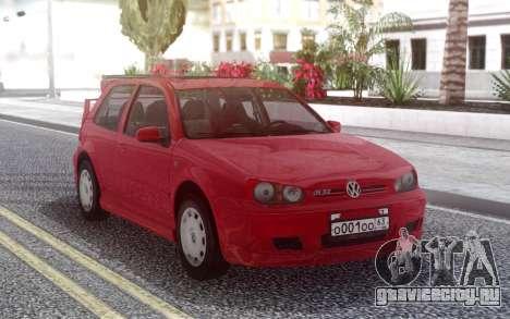 Volkswagen Golf IV Red для GTA San Andreas
