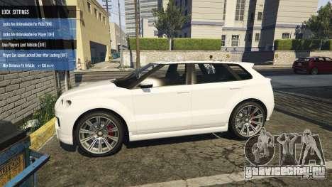 Vehicle Remote Central Locking 2.1.1 для GTA 5 третий скриншот