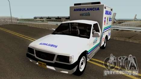 Chevrolet Luv Ambulancia Colombiana для GTA San Andreas